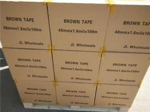 Wholesale Full Pallet Brown Packing Packaging Tape 105 Boxes 1 8mil 48mm 2 Inch