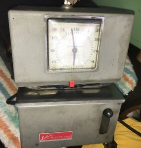 Vintage Lathem 2152 Time Clock Working Fun Display Piece