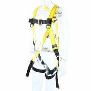 Full Body Harness 3 D ring Safety Fall Protection Kit 130 310 Pounds 59 140kg