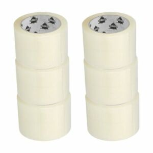 6 Rolls 3 Inch X 55 Yards 165 Carton Sealing Packaging Packing Tape 1 75 Mil