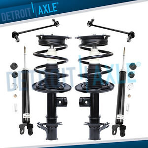 Front Quick Struts And Rear Shocks Sway Bars For 2007 2008 2012 Nissan Altima