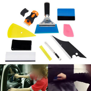 10 In 1 Car Window Tint Wrapping Vinyl Tools Squeegee Scraper Applicator Kits Br