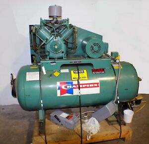 Champion Air Compressor 7 5 Hp 2 stage 1 phase 120 Gal Horizontal Industrial