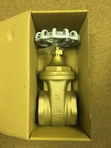New Nibco 3 Gate Valve Threaded Brass Bronze