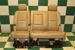 07 14 Escalade Tan Leather Second 2nd Row Bench 3 Person Backseat Seats Armrests