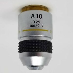 Olympus Microscope Objective A 10x 0 25 160 0 17 Ch Ch2