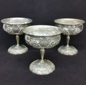 3 Vintage Reed And Barton King Francis 1661 Champagne Goblet Cups