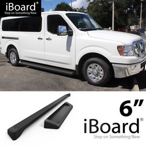 Running Board Style Step 6in Black Fit Nissan Nv 1500 2500 Full Size Van 12 19