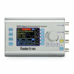 60mhz Dds Dual channel Function Signal Generator Source Frequency Meter Counter