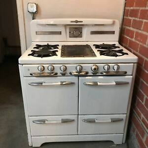 Vintage O Keefe And Merritt Kitchen Stove Double Oven