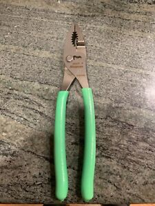 Snap On Tools Large Green Pliers 9 Combo Slip Joint 49acf New