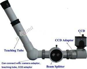 Slit Lamp Teaching Tube With Beam Splitter And Ccd Camera Free Shipping