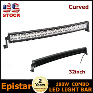 Curved 180w 32inch Led Light Bar Combo Offroad Trailer 4wd Pickup 31 36 50