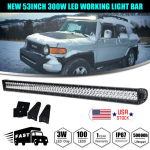 Straight 300w 52 Work Led Light Bar Fog Driving Drl Off road Suv 4wd Boat Truck