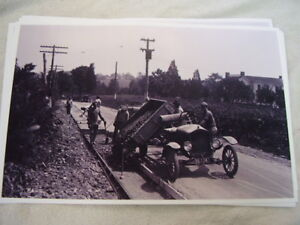 1922 Ford Model T Dump Truck With Road Crew 11 X 17 Photo Picture