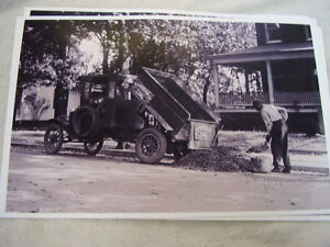 1922 Ford Model T Dump Truck Coal Delivery 11 X 17 Photo Picture