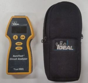 Ideal 61 165 Sure Test Circuit Analyzer Case And Test Cable Reduced