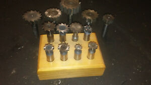 Bridgeport Mill Cutting Tool Lot Woodruff Keyway Cutter Set