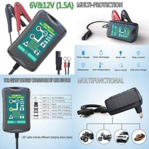 Lst Trickle Battery Charger Automatic Maintainer 6v 12v Smart Float For Auto Car