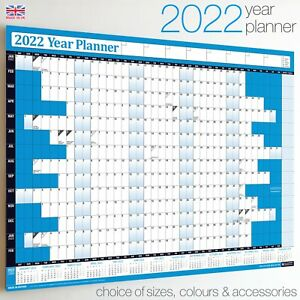 2019 Year Planner Wall Chart calendar holidays home office widest Range On Ebay