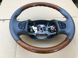 Ford Leather Wood Steering Wheel Excursion F 250 F 350 Navigators Gray