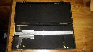 Used Craftsman Vernier Caliper Model 40254 With A Hard Case Made In Germany