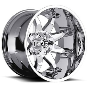 20x9 Fuel D508 Octane Chrome Wheels 5x5 5 5x150 20mm Set Of 4