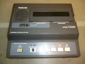 Olympus Pearlcorder T2020 Desktop Mini microcassette Transcriber Main Unit Only