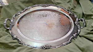 Reed Barton King Francis Silverplate Waiter Tray 1665 25 1 4 X 16 1 2