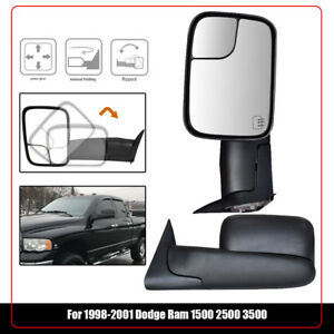Fit 98 01 Dodge Ram 1500 98 02 2500 3500 Tow Mirrors Left right Power Heated
