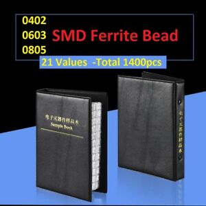 0402 0603 0805 Mix Smd smt Ferrite Bead Samples Book Assorted Kit Component