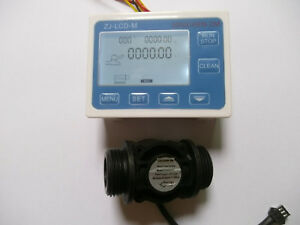 Hall Effect G1 Flow Water Sensor Meter digital Lcd Display Control
