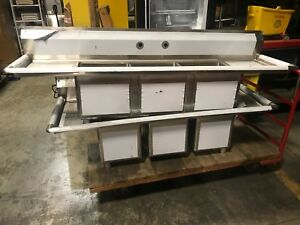 Advance Tabco Three Compartment Bowl Sink Restaurant Bakery