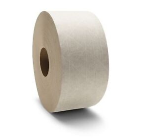 White Kraft Paper Gummed Tape 3 X 450 Reinforced Water Activated 80 Rolls