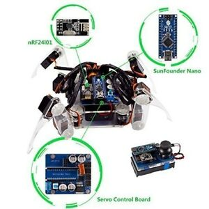 Sunfounder Remote Control Crawling Robotics Model Diy Kit For Arduino Electronic