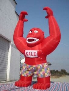 20ft Inflatable Red Gorilla Advertising Promotion With Blower New