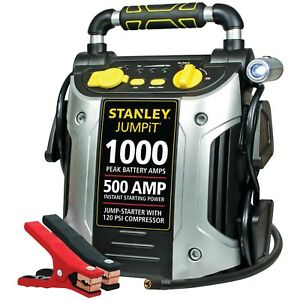 Stanley 1000 amp Jump Starter Battery Booster Air Compressor Portable Charging
