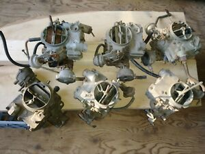 Vintage Hot Rod Muscle Car Rochester 3x2 Tri Power Carbs Big Base Parts