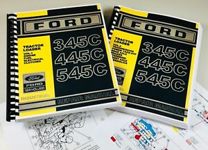 Ford New Holland 345c 445c 545c Tractor Loader Service Repair Manual Color Chart