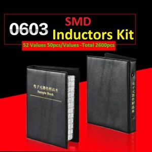 0603 Smd smt 5 L0603 Components Samples Book Inductors Assorted Kit 52 Values