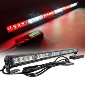 26 24w 24 Led Traffic Advisor Beacon Strobe Lightbar Flashing Patrol Red White
