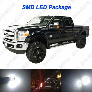 20x White Interior Led Bulbs fog Reverse Tag Lights For 08 16 Ford F250 F350
