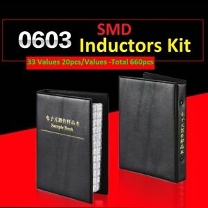 0603 Smd smt Lqw18 Components Samples Book Inductors Assorted Kit 33 Values