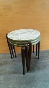 Mid Century Stacking Tables Vintage Nesting Tables Accent Table