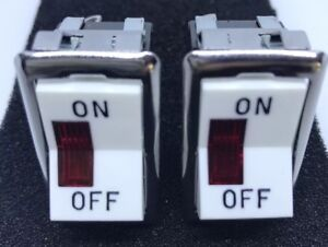 Lot Of 2 Carling 1124 r Rocker Illuminated Switch new Free Shipping