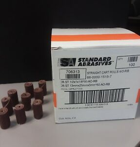 Standard Abrasives Straight Cart Rolls 706313 1 Box Of 100 Pieces New