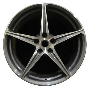 20 Ferrari 458 Italia Factory Oem Rear Rim Wheel Charcoal 255226 Machined