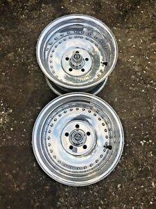 Centerline 15 X 8 1 2 Racing Wheels Polished 4 3 4 Gm Auto Drag Gasser With Caps
