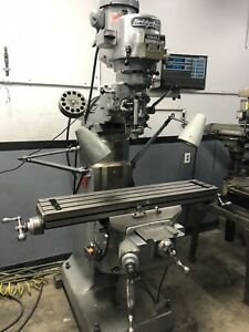 9 X 42 2hp Bridgeport Vertical Milling Machine With Dro