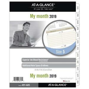 At a glance 2019 Monthly Planner Refill Day Runner 8 1 2 X 11 Folio Size 5